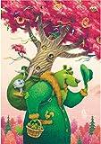 WTZFHF Grüner Bär Künstler Denis Serkov Holzpuzzles für Erwachsene 1000 Stück Kinder Puzzlespiel Spielzeug Geschenk für Kinder Jungen und M