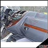 Auto Innendekor Mittelkonsole Armaturendekor Cockpit Dekor Kompatibel mit Vito W638 1999-2004 30 teilig Wurzelholz Optik Auto-Innendesign Aufkleb