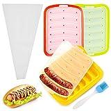 PUDSIRN Wurstform, antihaftbeschichtet, Lebensmittelqualität, Hot Dog-Form für Eiswürfel, Eier, Wurst und Baby's Ergänzung