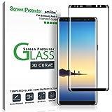 amFilm Galaxy Note 8 Glas Displayschutzfolie, Vollständige Abdeckung Panzerglas Schutzfolie für Samsung Galaxy Note 8 (Schwarz)