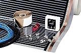 6 m², 220 W/m2, Fußbodenheizung mit Thermostat - Unterfloor Heating Film DIY Kit für Under Laminate & Holz mit T