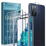 TOCOL 4 Stück Schutzfolie kompatibel mit Samsung Galaxy S20 FE 4G/5G Panzerglasfolie 2 Stück und 2 Stück Kamera Panzerglasfolie 9H Hartglas Blasenfrei Positionierungsrahmen Display
