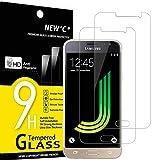 NEW'C 2 Stück, Schutzfolie Panzerglas für Samsung Galaxy J3 2016, Frei von Kratzern, 9H Härte, HD Displayschutzfolie, 0.33mm Ultra-klar, Ultrabeständig