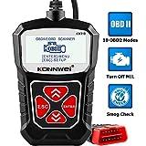 KONNWEI KW310 OBD2 Diagnosegerät Universal Auto Diagnosegerät Automotor Fehler-Code Scanner für 16-Pin OBDII/EOBD/CAN Protokoll KFZ in D