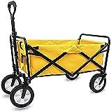 Eortzzpc Handwagen Multifunktions tragbare Handwagen zusammenklappbare Klappwagen-Dienstprogramm Wagenwagen im Freiengarten Camping Waggon Sportwagen schwer,Trolley Cart für Multi-U