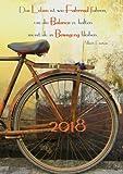Kalender 2018 - »Das Leben ist wie Fahrrad fahren, um die Balance zu halten musst du in Bewegung bleiben.« (Albert Einstein): Wochenkalender - DIN A5 - Eine Woche pro Dopp