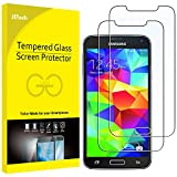 JETech Schutzfolie Kompatibel mit Samsung Galaxy S5, Gehärtetem Glas Displayschutzfolie, 2 Stück