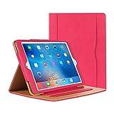 iPad Air Hülle - iPad PU Leder Smart Schutzhülle Cover Case mit Ständer Funktion und Auto-Einschlaf/Aufwach für Apple iPad Air/Neu iPad 9.7 (5th generation) 2017 (rosa)
