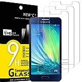 NEW'C 3 Stück, Schutzfolie Panzerglas für Samsung Galaxy A3 2015, Frei von Kratzern, 9H Härte, HD Displayschutzfolie, 0.33mm Ultra-klar, Ultrabeständig