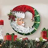 RMBLYfeiye Weihnachtskranz,Weihnachtsmann Türkranz Adventskranz Schneemann Weihnachten Kranz Dekokranz Hängende Tür Wand Verzierung Weihnachtskugelnkranz Fenster Dekoration Weihnachts-Party-Zubehö
