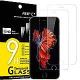 NEW'C 2 Stück, Schutzfolie Panzerglas für iPhone 6, iPhone 6s, Frei von Kratzern, 9H Härte, HD Displayschutzfolie, 0.33mm Ultra-klar, Ultrabeständig
