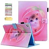 UUcovers, Smart Case für Apple iPad 25.7 cm (10.2 Zoll) 2019 Tablet iPad 7. Generation, PU-Leder, leicht, mehrere Winkel, mit Bleistift, automatische Aufwach- und Schlafmodus) Pink 04# R