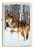 ZIPPO – Sturmfeuerzeug, Wolf in Snowy Forest, Color Image, Mercury Glass, nachfüllbar, in hochwertiger Geschenkbox