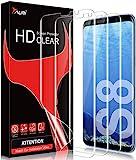 TAURI 3 Stück Schutzfolie Kompatibel Mit Samsung Galaxy S8 Galaxy S8 Folie Blasenfreie Fingerabdruck-ID Unterstützen Klar HD Weich TPU Display
