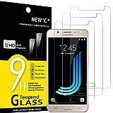 NEW'C 3 Stück, Schutzfolie Panzerglas für Samsung Galaxy J5 2016, Frei von Kratzern, 9H Härte, HD Displayschutzfolie, 0.33mm Ultra-klar, Ultrabeständig