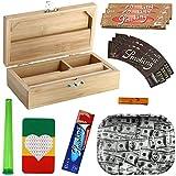 Heisenberg Rolling Box Geschenkset zum Zigarettendrehen, All-in-One Dreherbox, Bambus Aufbewahrungsbox mit Zubehör von Smoking Größe S - S