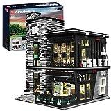 LOTSOFUN Mould King 16042 Modular Building Haus Kneipe & Restaurant Bausatz mit LED Licht, Street View Stadthaus Kompatibel mit Lego Creator Ideas Architecture, 3992 Teile für Erwachsene &