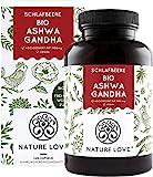 NATURE LOVE® Bio Ashwagandha - Hochdosiert mit 1950mg je Tagesdosis - 240 Kapseln - Hochwertige original indische Schlafbeere - Laborgeprüft, in Deutschland p