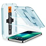 Spigen Glas.tR EZ Fit Schutzfolie kompatibel mit iPhone 13, iPhone 13 Pro, 2 Stück, Kratzfest, 9H Härte F