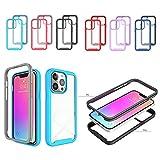 Stoßfeste Handyhülle Kompatibel mit iPhone 13 pro Case,6.1 inch,TPU Farbe Rundumschutz,Abnehmbare Anti-Drop-Handyhülle Bumper-Case,Flexible Kratzfest Schutzhülle Hülle mit MagS