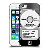 Head Case Designs Silber Hard Disk Drives Soft Gel Handyhülle Hülle kompatibel mit Apple iPhone 5 / iPhone 5s / iPhone SE 2016