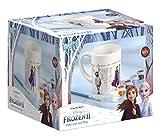Frozen II 680760 Bemalen Disney Becher zum Selbstbemalen: Tasse zum Ausmalen Motiven, 5 Verschiedene Farben, Pinsel, Geschenk für Mädchen, Mehrfarbig