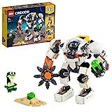 LEGO 31115 Creator 3-In-1 Weltraum-Mech Spielzeug mit Roboter und Lastenträger, Bauset mit Actionfigur und Alienfigur, tolles Geschenk fü