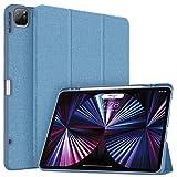Soke Schutzhülle für iPad Pro 12,9 Zoll (32,8 cm), mit Stifthalter, vollständiger Schutz + Apple Pencil Aufladung der 2. Generation Auto Wake/Sleep], weiche TPU-Rückseite 12,8 cm) (hellblau)