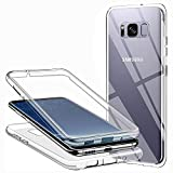 CHIMUCO Hülle für Samsung Galaxy S8 Handyhülle 360 Grad, Transparent Full Schutz Kratzfest Dünn Durchsichtige Case Silikon Schutzhülle, Hart PC Zurück + Weich TPU V