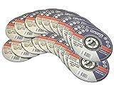 20 Trennscheiben Ø 115mm x 1.0mm für Winkelschleifer Stahl Edelstahl Flexscheibe Inox M
