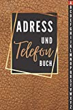 Telefon und Adressbuch: Telefon & Adressbuch mit Register von A-Z mit Platz Für 400+ Name, Adresse, Geburtstags, E-Mail, Telefon, Notizen - ... Kontaktdaten zur einfachen Adressverwaltung