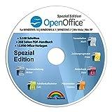 Open Office Spezial-Edition für Windows 10-8-7-Vista-XP | PC-Software mit 15.000 Vorlagen, 1.000 Schriften und PDF Handbuch | Dokumente, Kalkulationstab