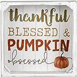 Blossom Bucket Dekoschild mit Aufschrift 'Thankful Blessed and Pumpkin Obsessed Crate', 216-30155