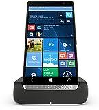 HP Elite x3 (Y1M46EA) Smartphone (15,14 cm (5,96 Zoll) Amoled WQHD Touchdisplay, 64 GB, Dual Sim, Windows 10 Mobile) inkl. Headset und Docking Station, schwarz / silb