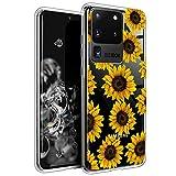 BSLVWG transparente Schutzhülle für Galaxy S20 Ultra, Blumenmuster, transparentes Design, harte Rückseite, Schutzhülle für Samsung S20 Ultra 17.5 cm (6.9 Zoll), 2020 verö