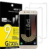 NEW'C 2 Stück, Schutzfolie Panzerglas für Samsung Galaxy J5 2017, Frei von Kratzern, 9H Härte, HD Displayschutzfolie, 0.33mm Ultra-klar, Ultrabeständig