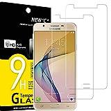 NEW'C 2 Stück, Schutzfolie Panzerglas für Samsung Galaxy J7 Prime, Frei von Kratzern, 9H Härte, HD Displayschutzfolie, 0.33mm Ultra-klar, Ultrabeständig