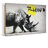 Leinwand von bilder.de, Graffiti, abstraktes Design, mit XL Holzrahmen, 60x40, Deko für Wohnzimmer & Schlafzimmer, modern,