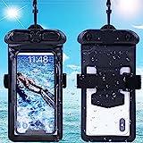 Vaxson Hülle, kompatibel mit Samsung Galaxy S4 Mini I9195I / S4 Mini Plus, Schwarz wasserdichte Tasche Handyhülle Waterproof Pouch Case [Nicht Displayschutzfolie Schutzfolie ]