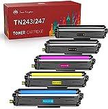 Toner Kingdom Kompatible Tonerkartuschen für Brother TN247 TN243 kompatibel mit Brother MFC-L3750CDW L3770CDW L3710CW L3730CDN Brother DCP-L3550CDW L3510CDW HL-L3210CW L3230CDW L3270CDW(5 Packung)