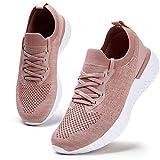 Damen Walkingschuhe Turnschuhe Laufschuhe Sportschuhe Fitness Sneakers Trainers für Running Outdoor Schuhe Pink 40 EU