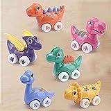 Dinosaurier Spielzeugauto 1 Jahr - Aufziehautos mit Rückzug ab 1 Jahr - Dino Auto Baby 1 Jahr - Auto Geräusche für Kinder Junge Mädchen - AmyB