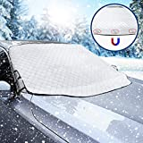 Frontscheibenabdeckung Auto Scheibenabdeckung Faltbar Sonnenschutz Winter Windschutzscheiben Abdeckung 3 Magnetische für Autoscheibenabdeckung gegen Strahlung, Sonne, Staub, Schnee, EIS, F