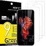 NEW'C 3 Stück, Schutzfolie Panzerglas für iPhone 6s / 6, Frei von Kratzern, 9H Härte, HD Displayschutzfolie, 0.33mm Ultra-klar, Ultrabeständig