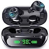 Kabellose Ohrhörer Bluetooth Kopfhörer LED Display Geräuschunterdrückung IPX5 Wasserdicht Ohrhörer In-Ear 200H Spielzeit Hi-Fi Stereo Sound für Sport Arbeit Zuhause Bü