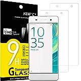 NEW'C 2 Stück, Schutzfolie Panzerglas für Sony Xperia XA, Frei von Kratzern, 9H Härte, HD Displayschutzfolie, 0.33mm Ultra-klar, Ultrabeständig