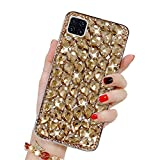 Bling Glitzer Hülle für Galaxy A42 5G, Misstars 3D Diamant Strass Handyhülle Transparent Hart PC Rückschale mit Silikon TPU Rahmen Schutzhülle für Samsung Galaxy A42 5G, G