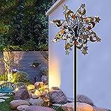 llxyzrzbhd Windrad WindmüHle Metall Wind Spinner 360 Grad Doppel Wind Skulptur Geeignet kinetische Yard Art Dekorationen Windmühle Einzigartige Geschenkidee 109