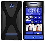 mumbi Hülle kompatibel mit HTC Windows Phone 8S Handy Case Handyhülle, schw