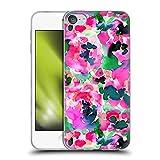 Head Case Designs Offiziell Offizielle Jacqueline Maldonado Pink und Grün Blumen Soft Gel Handyhülle Hülle kompatibel mit Apple Touch 6th Gen/Touch 7th G